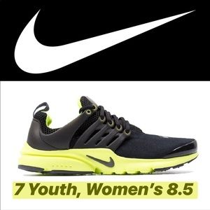 Nike Presto Black and Volt 7Y (Grade School)